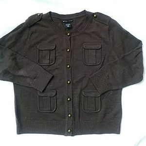 New York & Company brown button down sweater